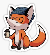 Hipster fox Sticker