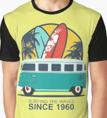 Surfing The Waves 1960 Graphic T-Shirt