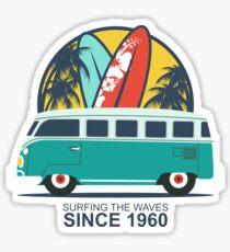 Surfing The Waves 1960 Sticker