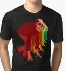 Racing Rainbow Skeletons Tri-blend T-Shirt