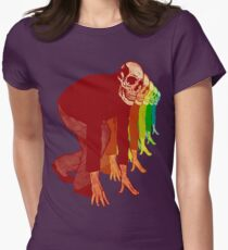 Racing Rainbow Skeletons Women's Fitted T-Shirt