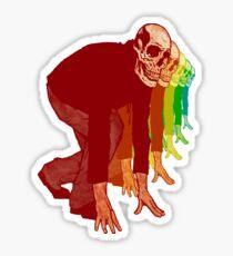 Racing Rainbow Skeletons Sticker