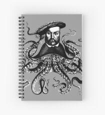 Squid King Henry VII Spiral Notebook