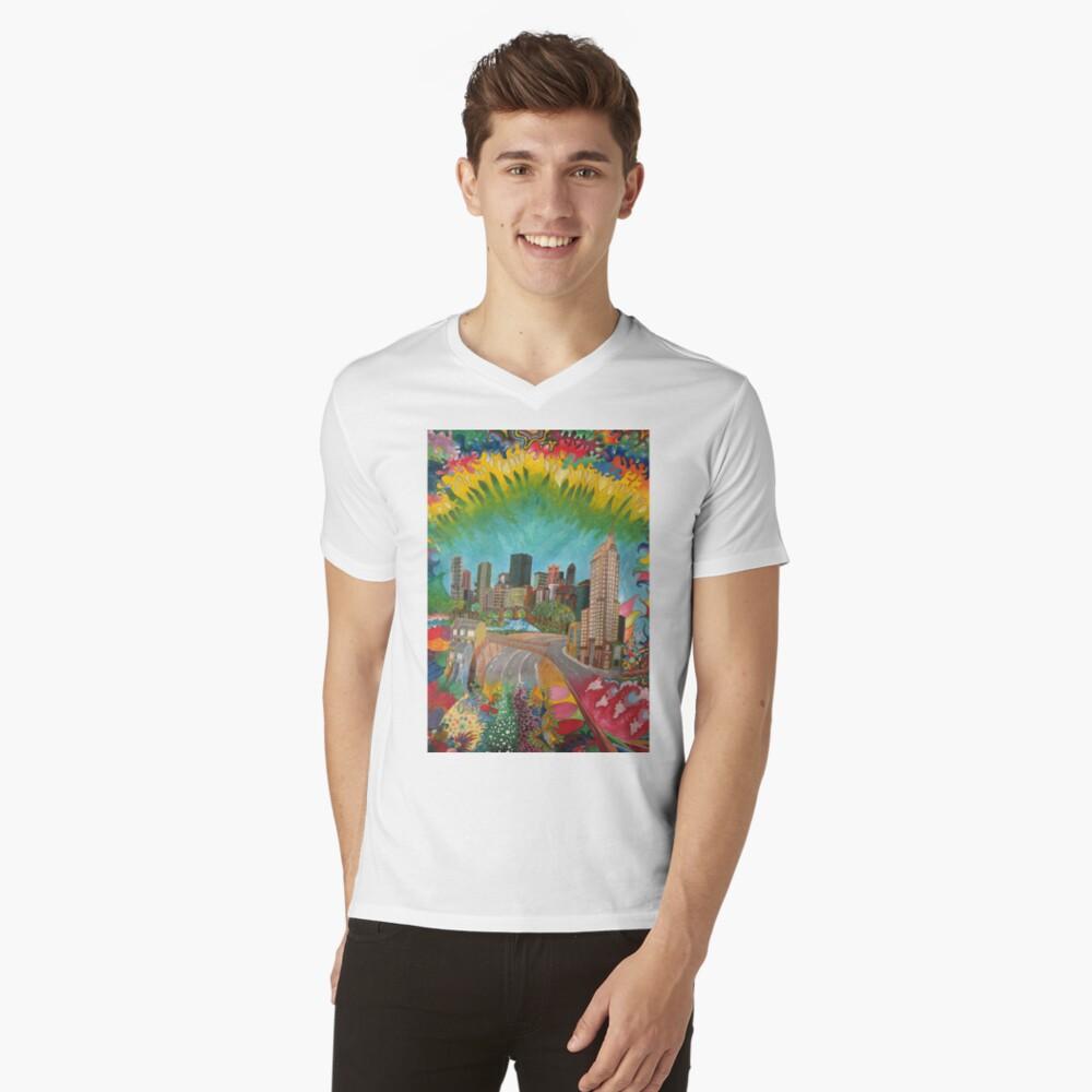City - vivid V-Neck T-Shirt
