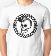 Rockin' Skull - black print Unisex T-Shirt