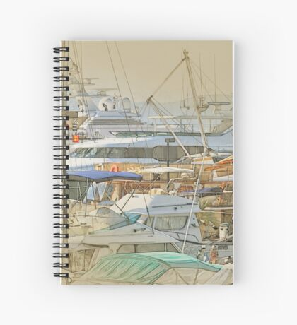 Boat harbour  Spiral Notebook