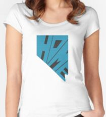 Nevada HOME state design Women's Fitted Scoop T-Shirt