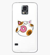 Funda/vinilo para Samsung Galaxy Donut Lucky cat