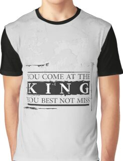 """You Come at the King, You Best Not Miss"" - The Wire (Dark) Graphic T-Shirt"