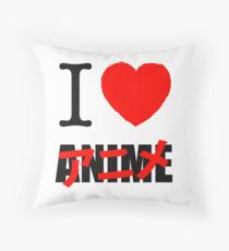 I love Anime 2 Throw Pillow