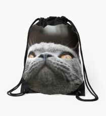 What Are you waiting for? Theres my chin Drawstring Bag