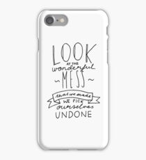 Flaws Typography iPhone Case/Skin
