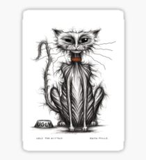 Ugly the kitten Sticker