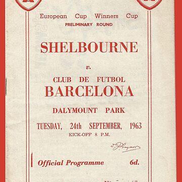 SHELBOURNE VS BARCELONA - PROGRAMME COVER  by 1895Trust