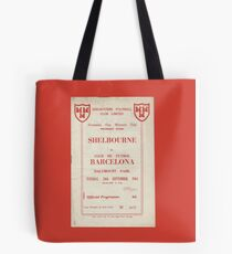 SHELBOURNE VS BARCELONA - PROGRAMME COVER  Tote Bag
