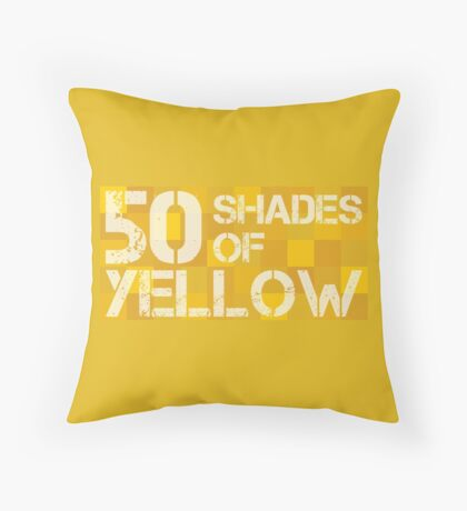 50 Shades of Yellow Throw Pillow