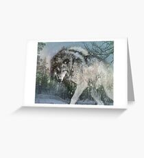 Wolf in the snow Greeting Card