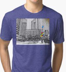 Sunny Day Cityscape Streetscape Tri-blend T-Shirt