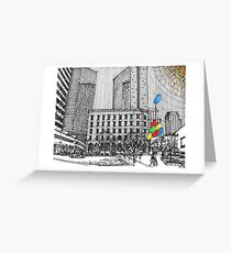 Sunny Day Cityscape Streetscape Greeting Card