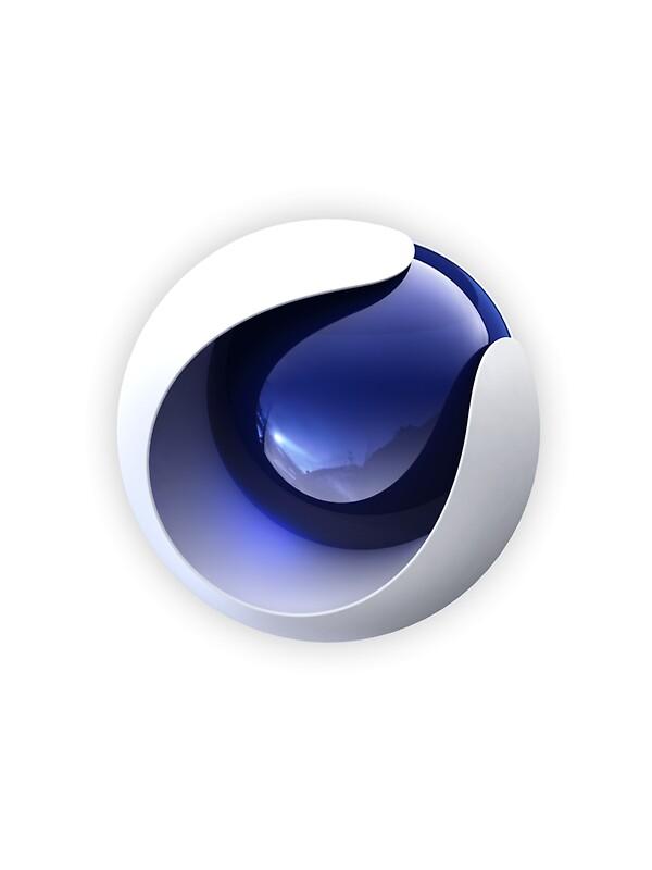 """Cinema 4D Logo"" Stickers by magicstudio | Redbubble  ""Cinema 4D..."