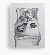 Childrens -with dog, cat and toys Canvas Print