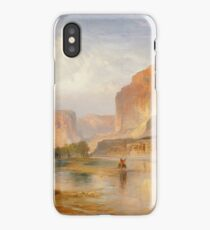 Thomas Moran - Cliffs Of Green River. Mountains landscape: mountains, rocks, rocky nature, sky and clouds, trees, peak, forest, Canyon, hill, travel, hillside iPhone Case/Skin