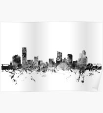 Grand Rapids Michigan Skyline Poster