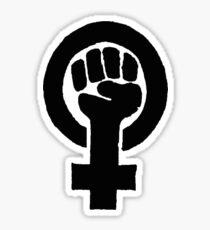 Black Woman Power Fist Sticker