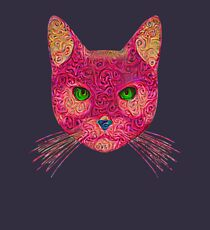 Rose Hungry Cat Kids Pullover Hoodie