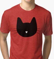 Cat Heart Nose Tri-blend T-Shirt
