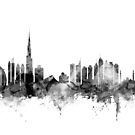 World Cities Skyline Cityscapes by Michael Tompsett