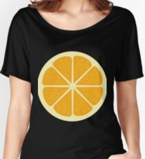 Yellow Lemon Graphic Design  Women's Relaxed Fit T-Shirt