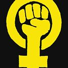Yellow Feminist Fist by Thelittlelord