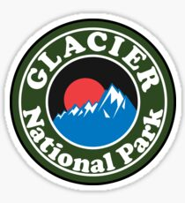 GLACIER NATIONAL PARK MONTANA HIKING CAMPING HIKE CAMP Sticker