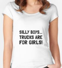 Silly Boys Trucks For Girls Women's Fitted Scoop T-Shirt