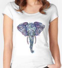 Safari Elephant Women's Fitted Scoop T-Shirt