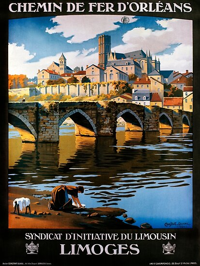 Limoges, French Travel Poster by paulrommer