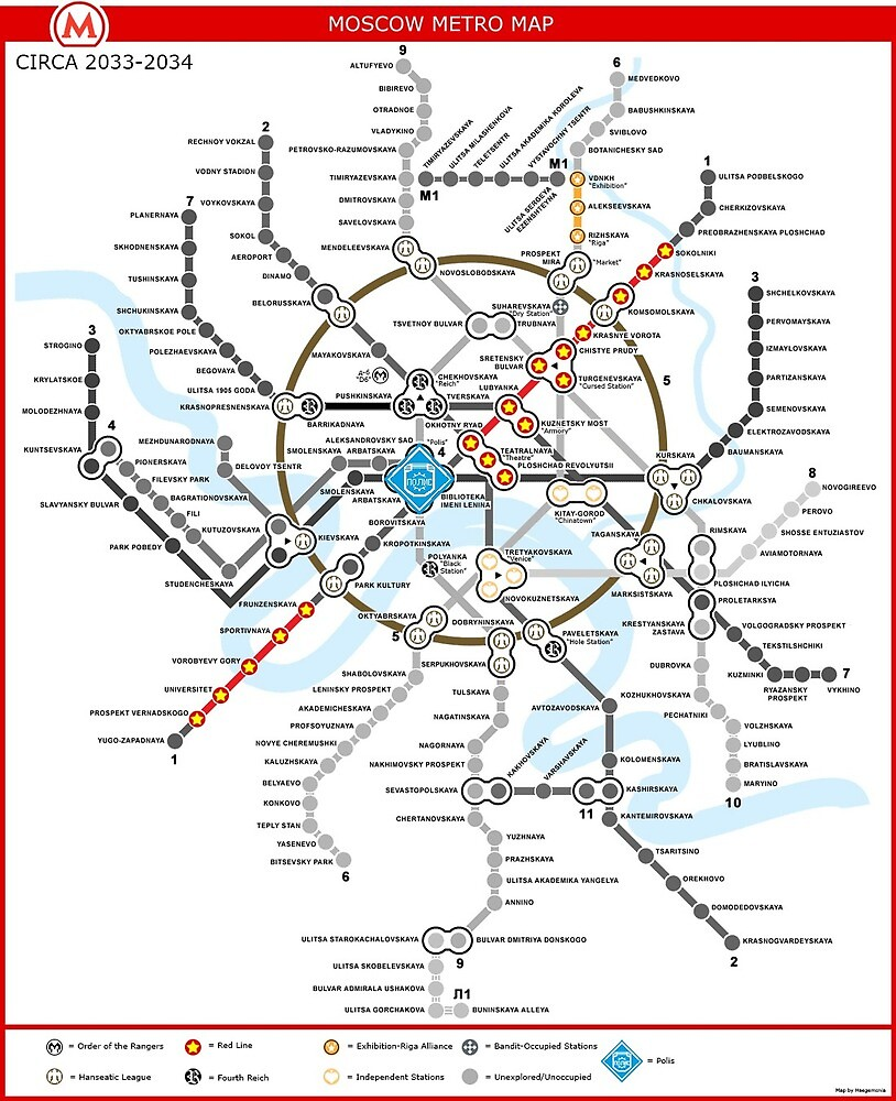Moscow Subway Map English.Metro 2033 Moscow Map By Rooser Redbubble