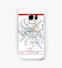Metro 2033 Moscow Map Samsung Galaxy Case/Skin