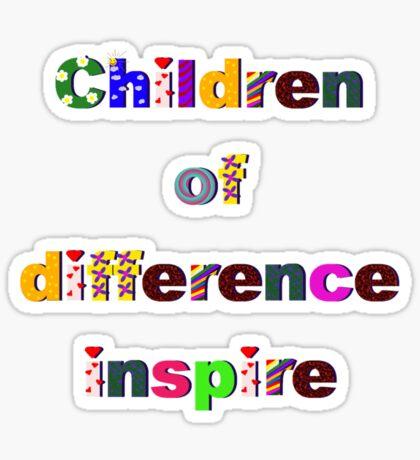 Children of difference inspire Sticker