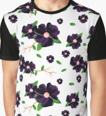 Coloured floral pattern Graphic T-Shirt