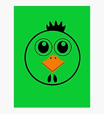 chicken with Yellow nose Cartoon animation Photographic Print