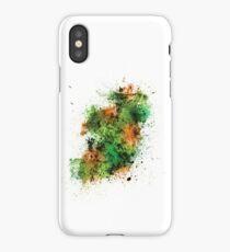 Ireland Map Paint Splashes iPhone Case/Skin