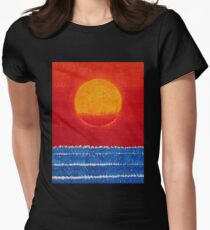 Solstice Sunrise original painting Womens Fitted T-Shirt