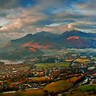 Late afternoon storm over Keswick from Latrigg summit by Martin Lawrence