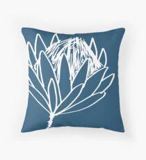 Protea - White Throw Pillow