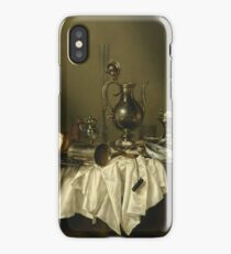 Willem Claesz Heda - Banquet Piece With Ham . Still life with fruits and vegetables: fruit, Lemon , glass of wine, tasty, gastronomy food, flowers, dish, cooking, kitchen, vase iPhone Case/Skin