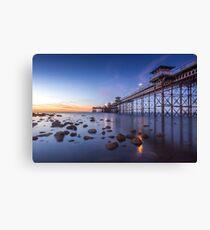 Llanduno Pier Sunset Canvas Print