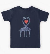 Giraffes in Love - A Valentine's Day Illustration Kids Tee