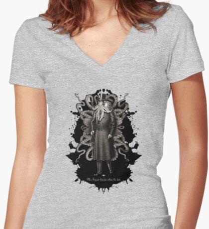 Mr Squid Women's Fitted V-Neck T-Shirt